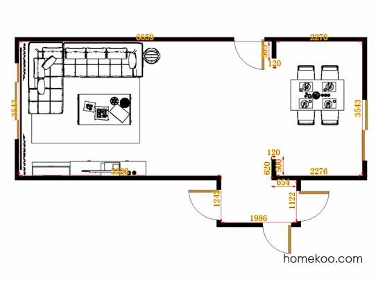平面布置图米兰剪影客餐厅G15113