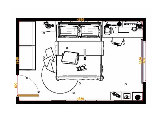 平面布置图贝斯特系列青少年房B12845
