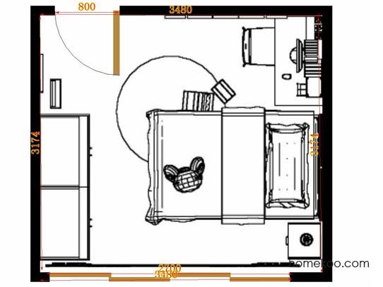 平面布置图柏俪兹系列青少年房B12857