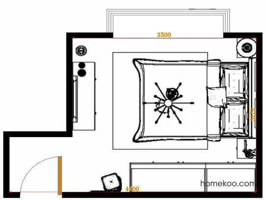 平面布置图贝斯特系列卧房A15131
