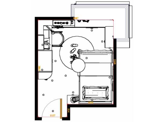 平面布置图贝斯特系列青少年房B12882