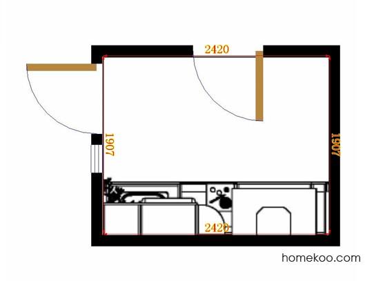 平面布置图乐维斯系列厨房F14145