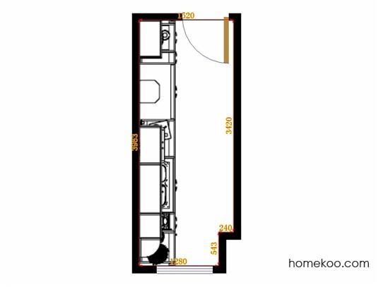 平面布置图格瑞丝系列厨房F14151