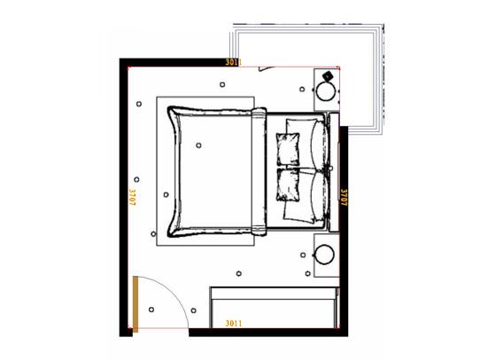 平面布置图斯玛特系列卧房A15160