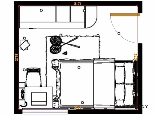 平面布置图德丽卡系列青少年房B12904