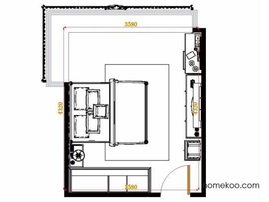 平面布置图格瑞丝系列卧房A15178
