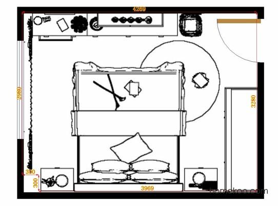平面布置图乐维斯系列卧房A15179