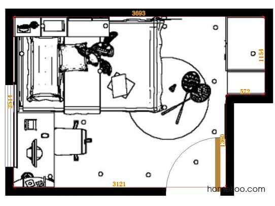 平面布置图格瑞丝系列青少年房B12922