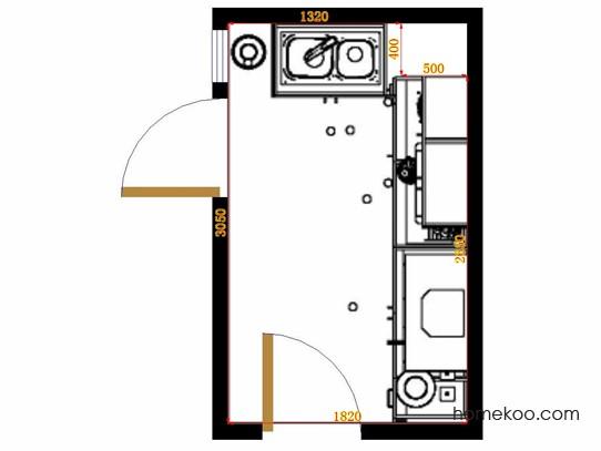 平面布置图德丽卡系列厨房F14213