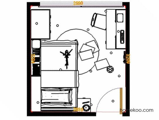 平面布置图斯玛特系列青少年房B12931