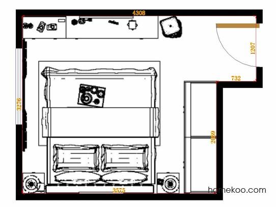 平面布置图贝斯特系列卧房A15215