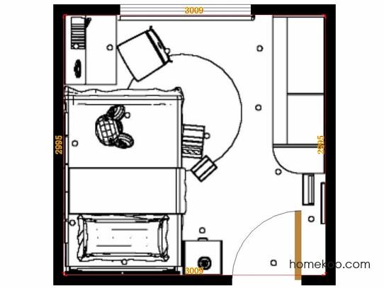平面布置图斯玛特系列青少年房B12941