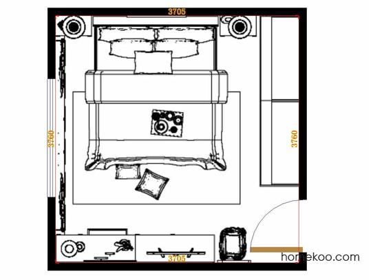 平面布置图格瑞丝系列卧房A15228