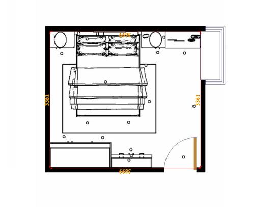 平面布置图柏俪兹系列卧房A15233