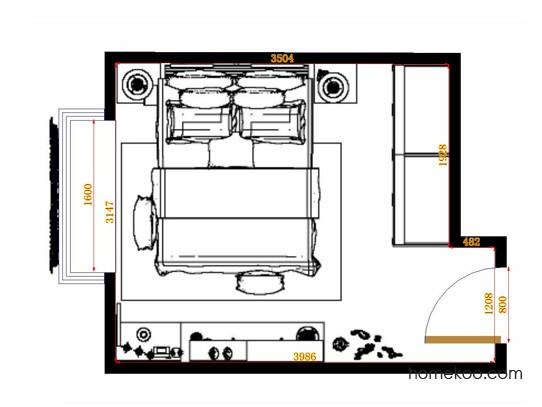 平面布置图柏俪兹系列卧房A15236