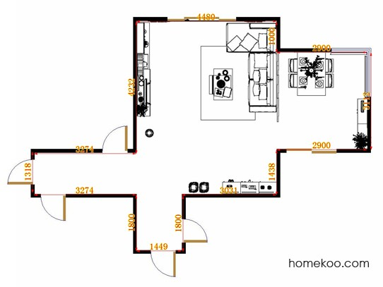 平面布置图斯玛特系列客餐厅G15180