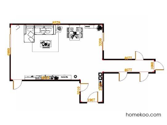 平面布置图格瑞丝系列客餐厅G15189