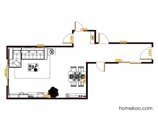 平面布置图格瑞丝系列客餐厅G15193