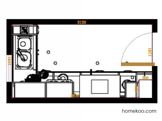平面布置图格瑞丝系列厨房F14254