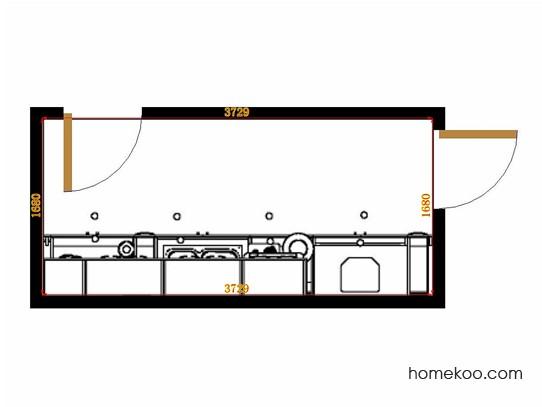 平面布置图贝斯特系列厨房F14261