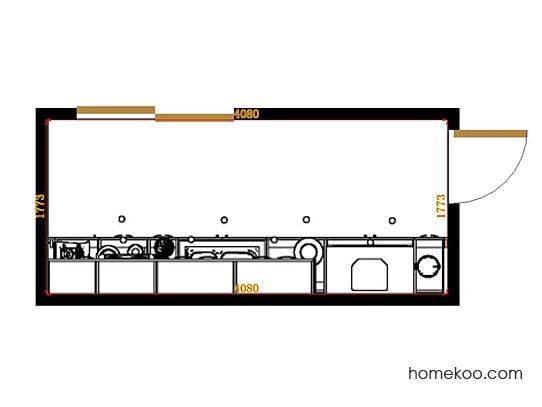 平面布置图斯玛特系列厨房F14263