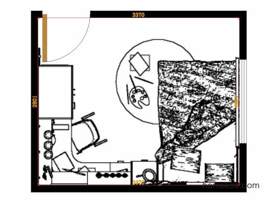 平面布置图格瑞丝系列青少年房B15295