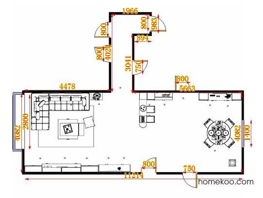 平面布置图德丽卡系列客餐厅G15328