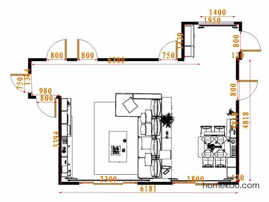 平面布置图乐维斯系列客餐厅G15343