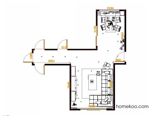 平面布置图芭堤雅客餐厅G15346
