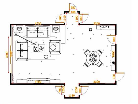 平面布置图中国韵客餐厅G15355