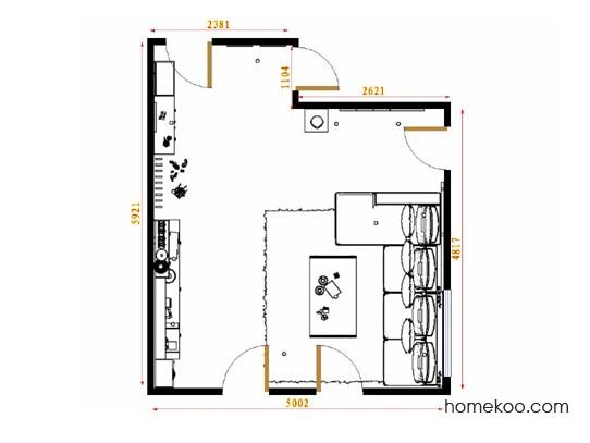 平面布置图乐维斯系列客厅D14324