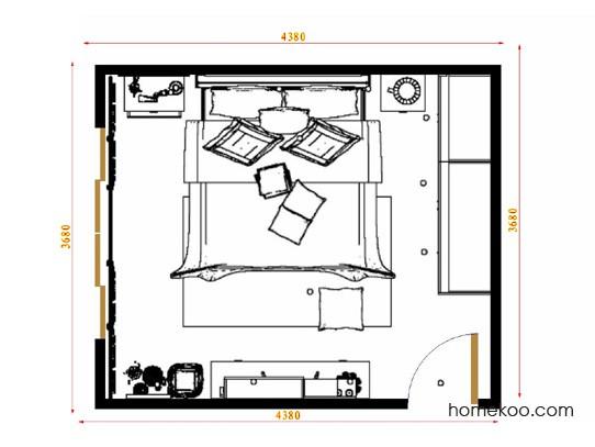 平面布置图斯玛特系列卧房A15446