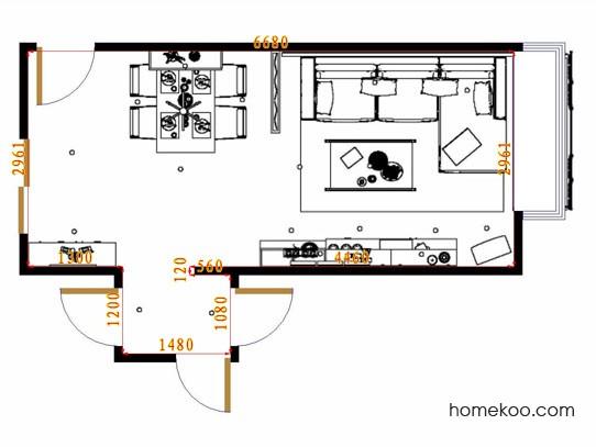 平面布置图斯玛特系列客餐厅G15448