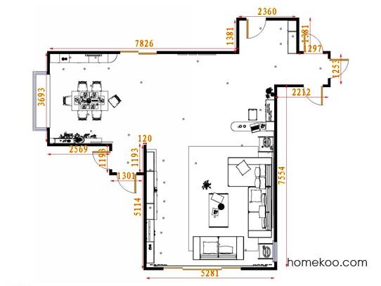 平面布置图德丽卡系列客餐厅G15455