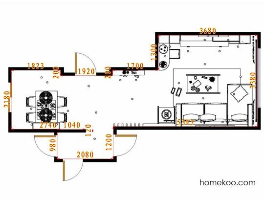 平面布置图乐维斯系列客餐厅G15457