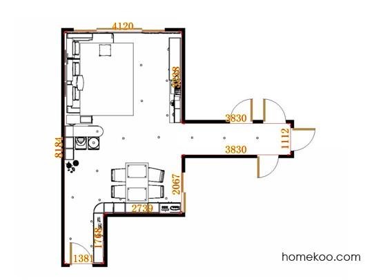 平面布置图北美枫情客餐厅G15458