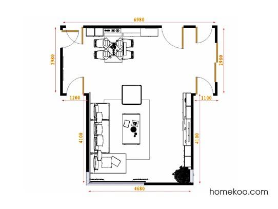 平面布置图北美枫情客餐厅G15461