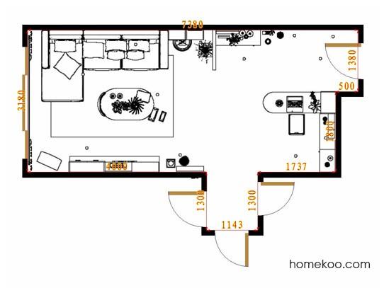 平面布置图米兰剪影客餐厅G15504