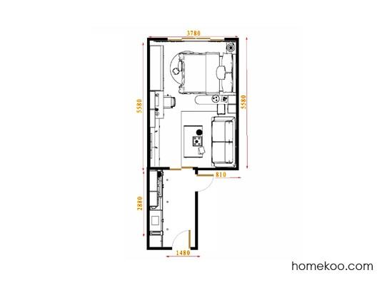 平面布置图柏俪兹系列卧房A15674