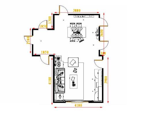 平面布置图芭堤雅客餐厅G15519