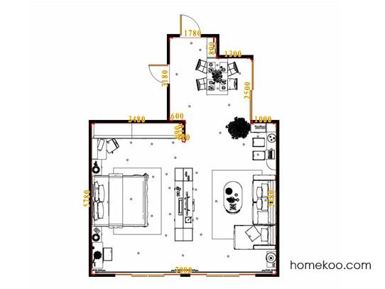 平面布置图格瑞丝系列单身公寓0002