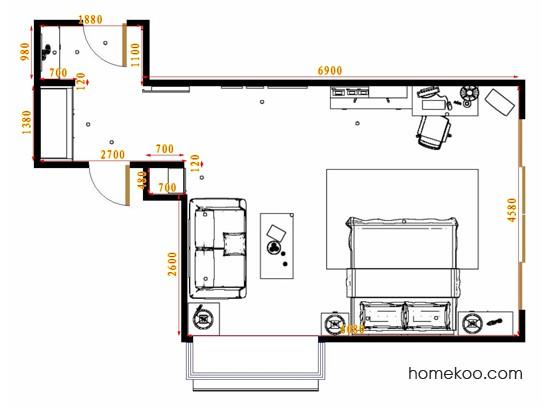 平面布置图斯玛特系列单身公寓15543