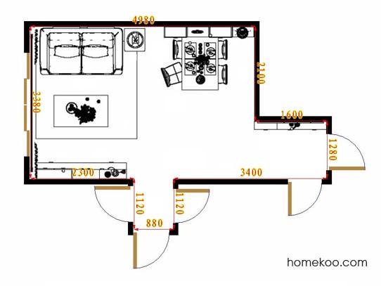 平面布置图斯玛特系列客餐厅G15544