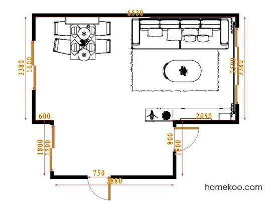 平面布置图米兰剪影客餐厅G15549