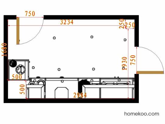 平面布置图斯玛特系列厨房F14517