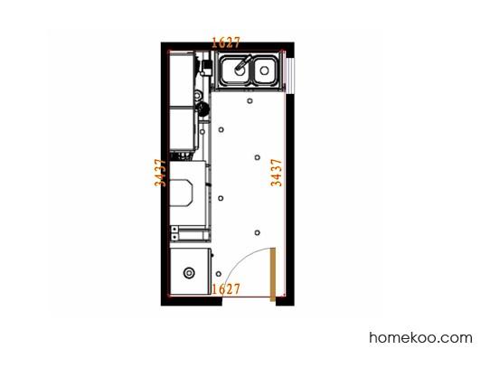 平面布置图德丽卡系列厨房F14520