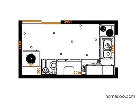 平面布置图贝斯特系列厨房F14523