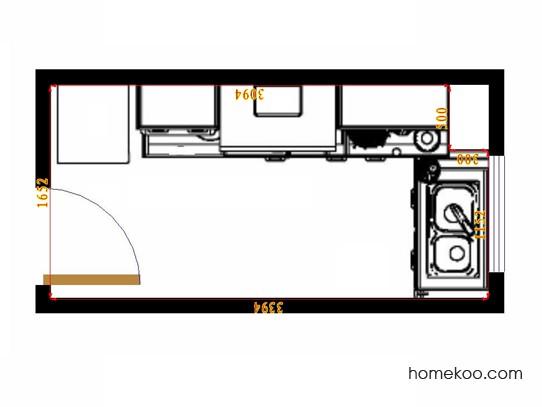 平面布置图贝斯特系列厨房F14533