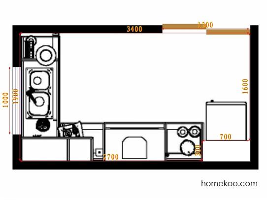 平面布置图贝斯特系列厨房F14538