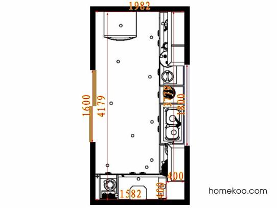 平面布置图贝斯特系列厨房F14551